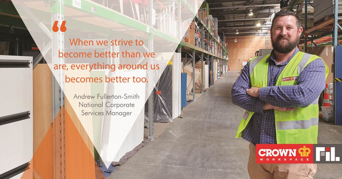 Andrew Fullerton-Smith | National Corporate Services Manager for Crown FIL Workspace